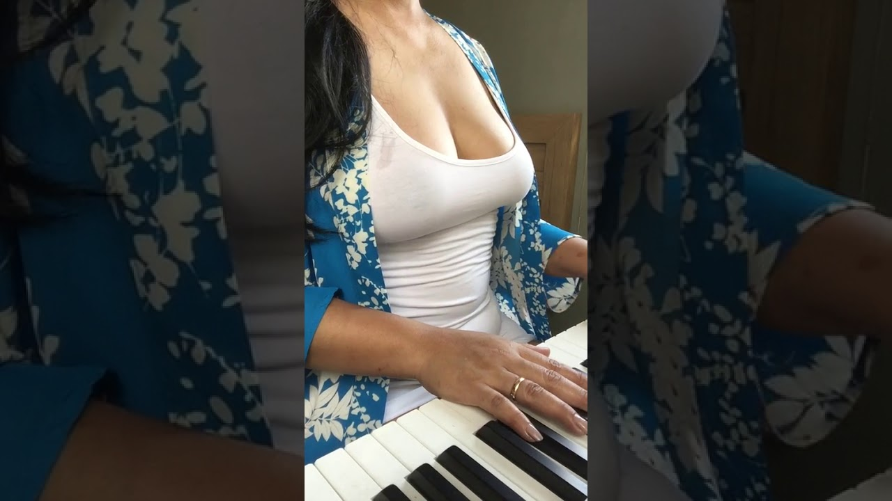 Hot Girl Trying Her Hands On Piano YouTube