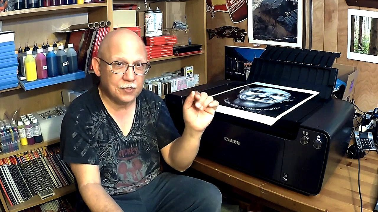 Printing A Black White Print On The Pro 1 With Canon Pro Luster