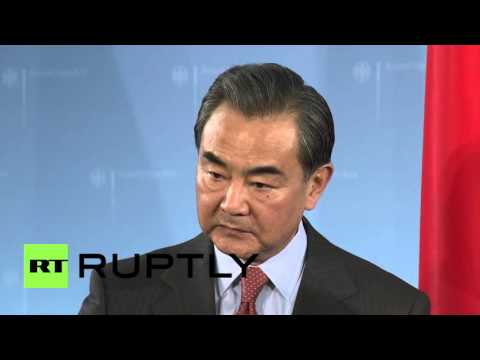 Germany: Steinmeier talk Syria with Chinese FM Wang Yi