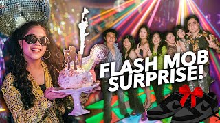 HAPPY BIRTHDAY NIANA!! Surprise! (DISCO Flash Mob) | Ranz and Niana