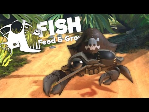 Giant Pirate Crab Destroys Sharks! - Feed and Grow Fish Gameplay