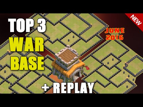 Clash Of Clans - TOP 3 TH8 (Town Hall 8) WAR BASE + REPLAYS !