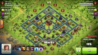 BM051 Balloons and Minions Strategy against champion level opponent Clash of Clans CoC