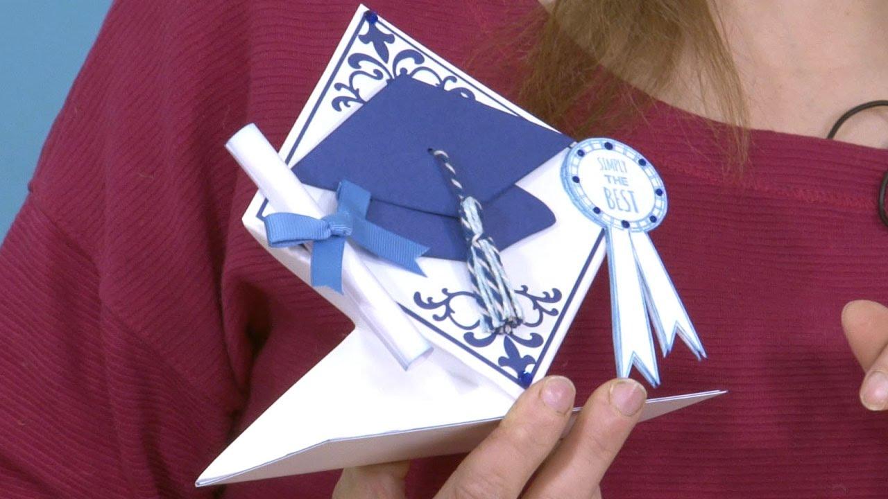Make A 3d Graduation Card In The Studio Graduation Cards Cards Card Making Video Tutorials
