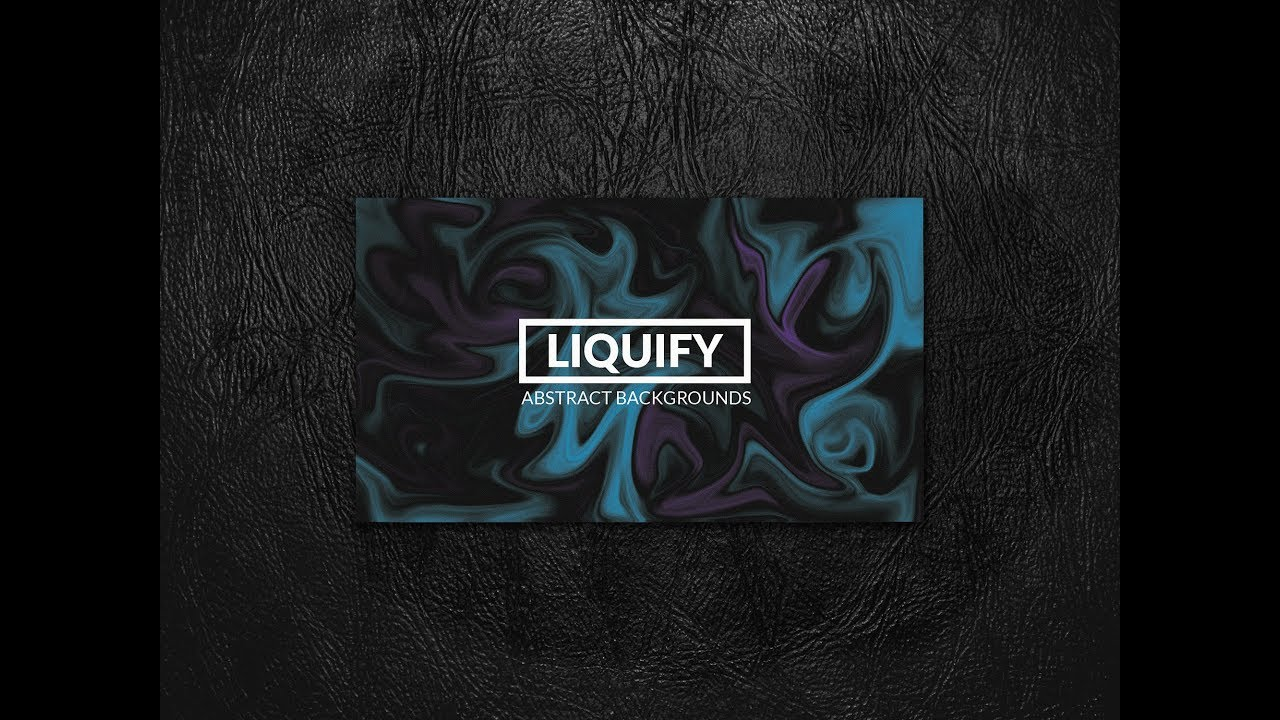 Photoshop CS6 tutorial: How to create an Abstract Liquify Effect Background  Texture