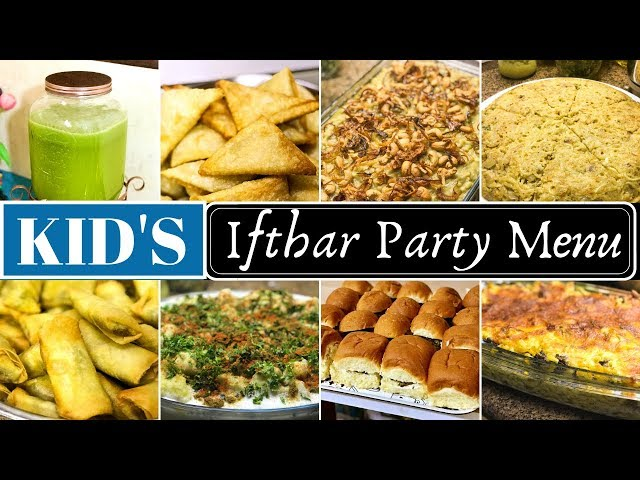 KID'S Iftar Party Menu | Chicken Burger, Mutton Haleem and many more