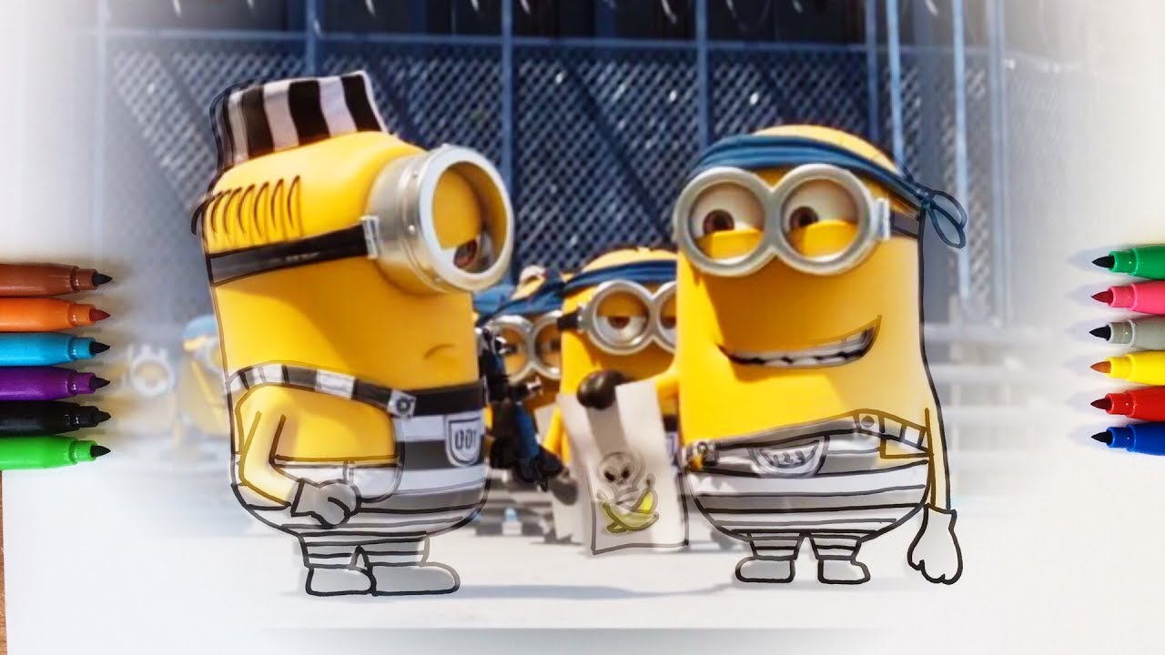 Despicable Me 3 Minions In Prison Coloring Pages For