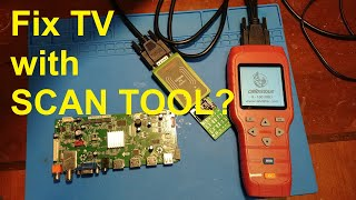 Fixing a TV with a scan tool