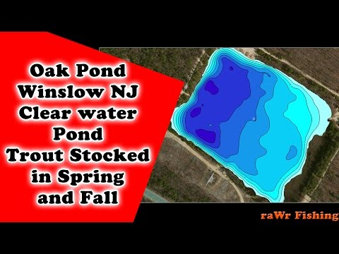 How To Get To Oak Pond NJ - Stocked Trout Location By RaWr Fishing