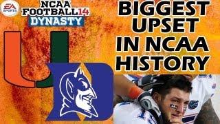 NCAA Football 14 Dynasty - THE U - Ep. 9 - BIGGEST UPSET IN NCAA HISTORY