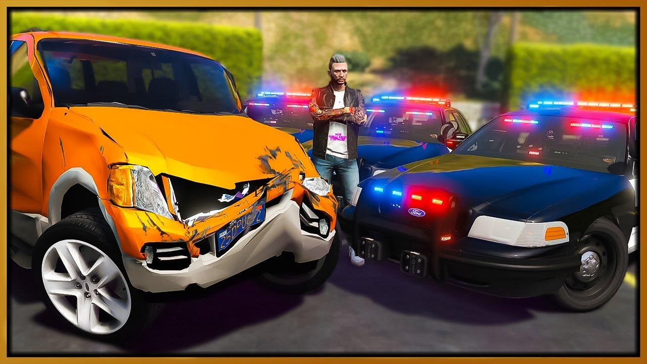GTA 5 Roleplay - worlds worst car trolling cops   RedlineRP