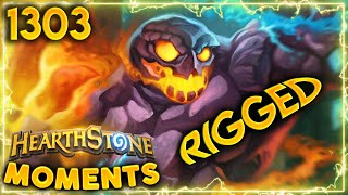 That DEFINITELY LOOKS RIGGED TO ME | Hearthstone Daily Moments Ep.1303