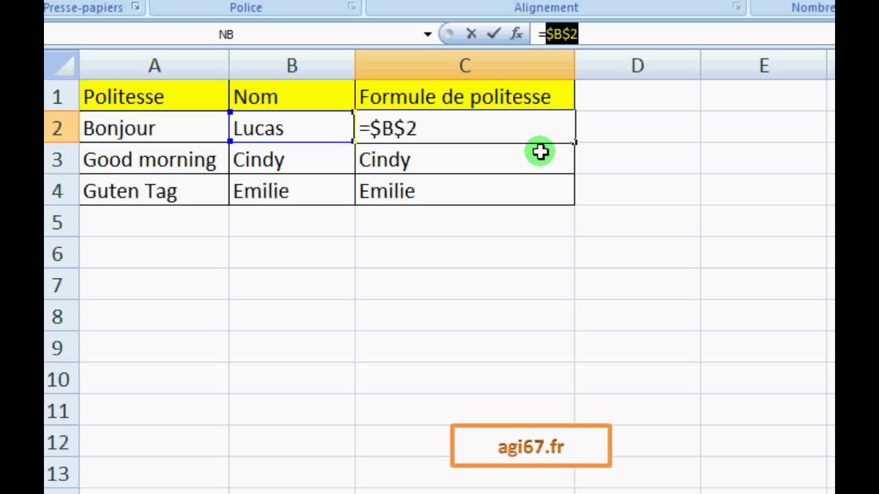 Excel Le Dollar (Tutoriel)