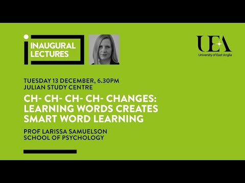 Inaugural Lectures: Learning words creates smart word learning | University of East Anglia (UEA)
