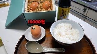 일본에서 가장 비싼 달걀로 날계란밥 해먹기