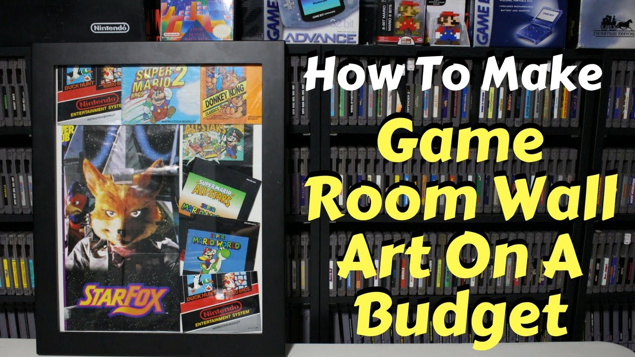 Game Room Wall Art how to make game room wall art on a budget - youtube