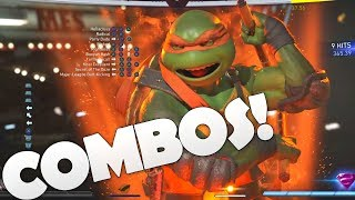 MICHELANGELO! TMNT Best Advanced Combos Guide/Tutorial/Tips (Injustice 2)