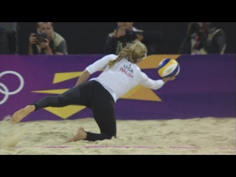 Women's Beach Volleyball Preliminary Round - USA v CZE | London 2012 Olympics