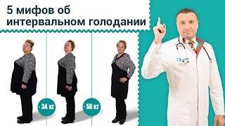 5 мифов об интервальном голодании. Ответы про голодание 16/8 и фастинг. Как быстро похудеть. 12+