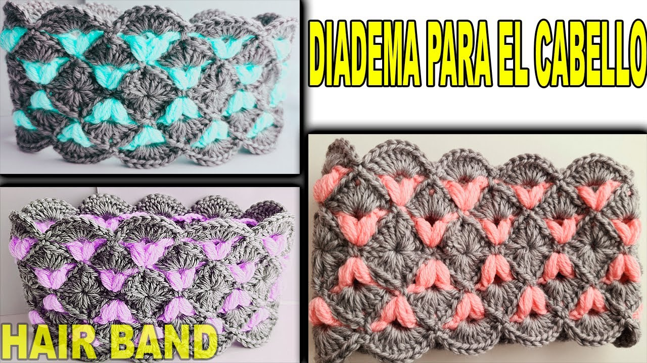 BANDA PARA EL CABELLO | HAIR BAND TO CROCHET  | Diadema a crochet paso a paso