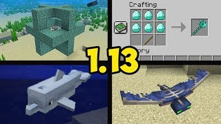 Обзор Minecraft 1.13 (Обзор Майнкрафт 1.13) | (часть 2) ИСТОЧНИК МОРЯ, ЗАЧАРОВАНИЯ, ДЕЛЬФИНЫ, МОБЫ