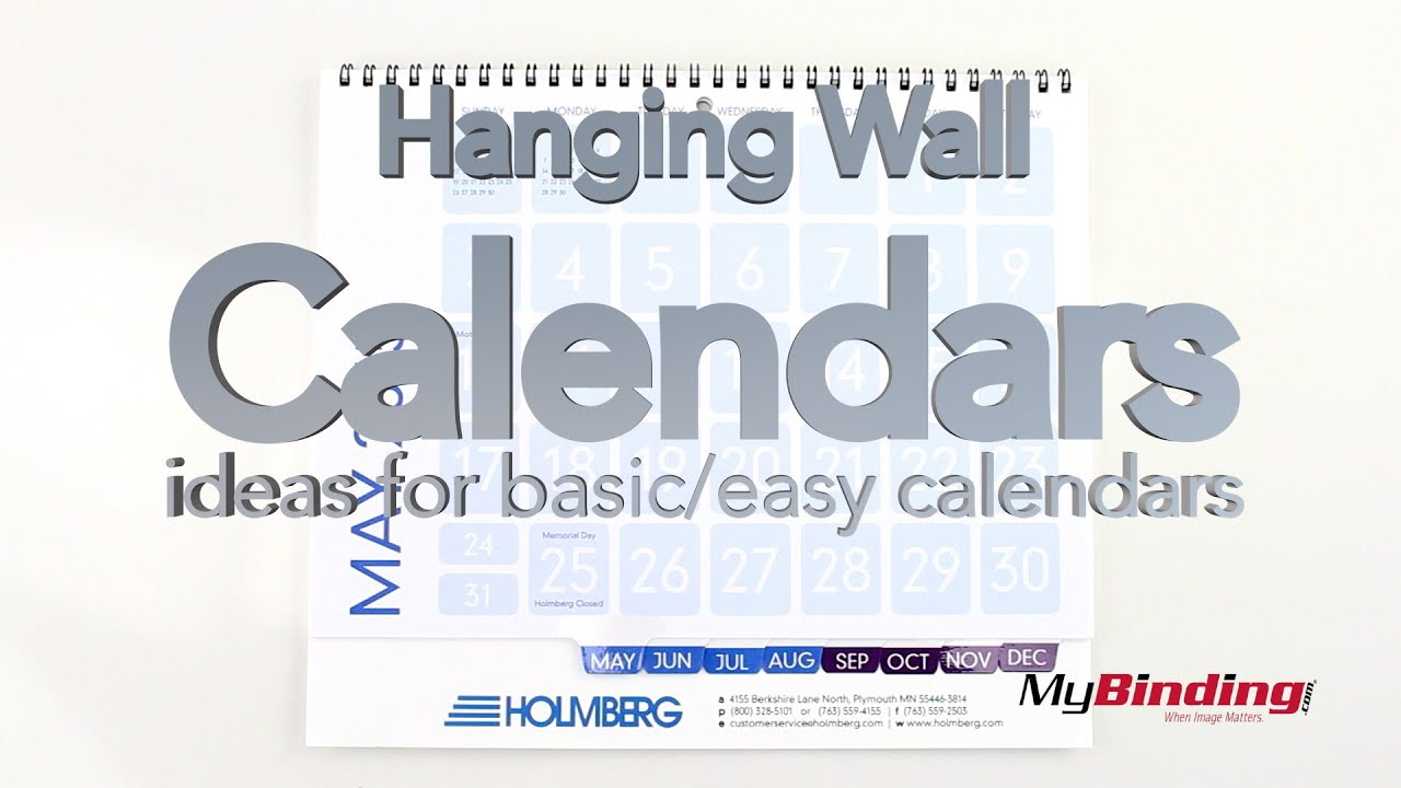 Calendar Binding Ideas : Hanging wall calendars ideas for basic youtube