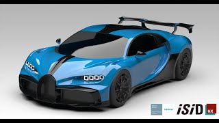 3D Surface Modeling of Bugatti Chiron Pur Sport - Siemens NX