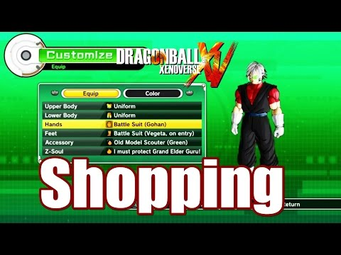 Dragon Ball Xenoverse Item l Clothing l Skill l Gift Shop