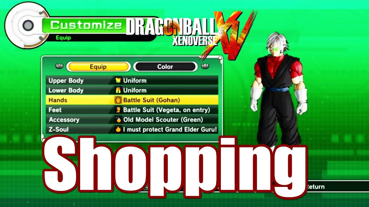 dragon ball xenoverse item l clothing l skill l gift shop youtube. Black Bedroom Furniture Sets. Home Design Ideas