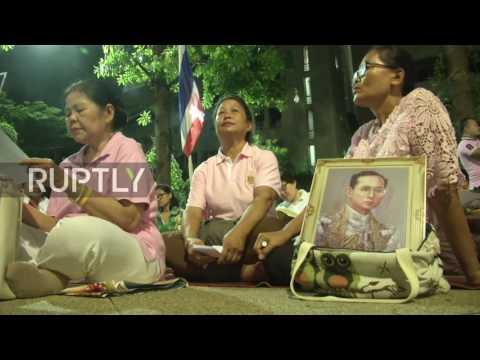 Thailand: Hundreds pray for King's health outside Bangkok hospital