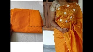 Converting Old Plain Sari  to New Designer Sari | Pearls Designing on SARI