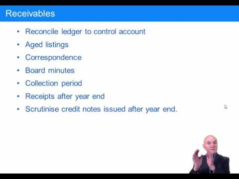ACCA F8 The Audit of Receivables