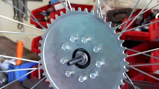 How To Install Motorized Bicycle Rag Joint Sprocket Heavy Duty Wheel