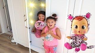 Masal'ın Sihirli Dolabı! Magic Cupboard and kids pretend play lol surprise Dolls, Cry Babies
