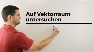 Auf Vektorraum untersuchen plus Untervektorraum erklärt am Beispiel   Mathe by Daniel Jung