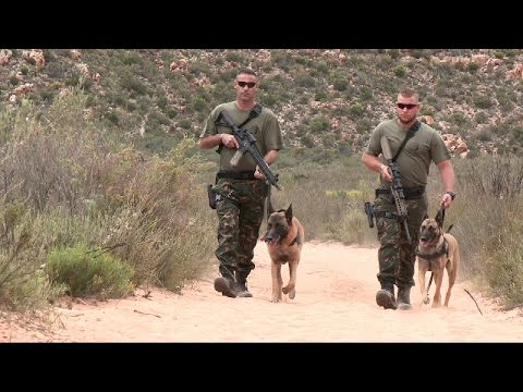 Aquila Private Game Reserve South Africa canine unit.