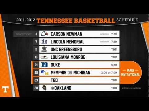 Vols Basketball Schedule Release Show