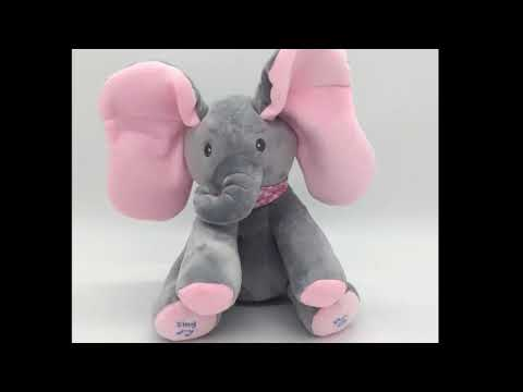 Animated Musical Stuffed Elephant