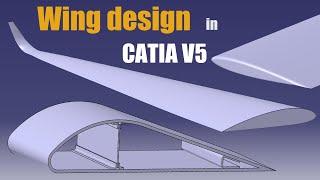3 Types of Wing Design in CATIA V5