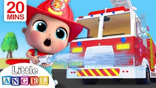 Download Fire Truck Song | Firefighter to the Rescue | Nursery Rhymes - Little Angel Mp3 and Videos
