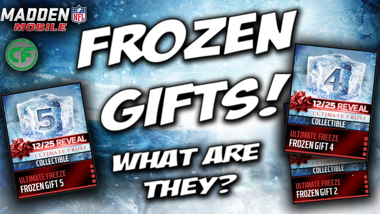 Madden Mobile 16 - FROZEN GIFTS! WHATS INSIDE THE FROZEN GIFTS ...