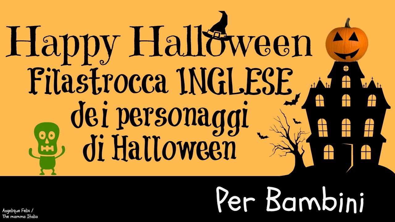 Halloween Happy Halloween - INGLESE per bambini piccoli - filastrocca -  YouTube e077b8b2b53d