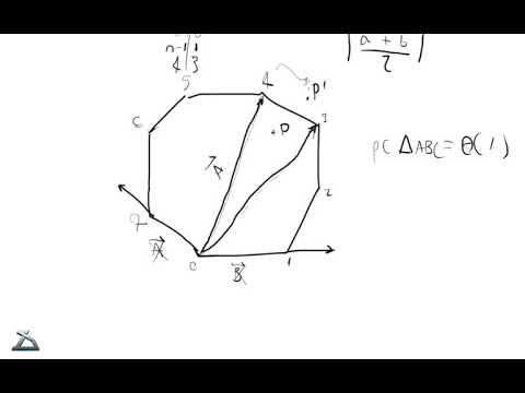Computational Geometry: Point in Convex Polygon in Logarithmic Time