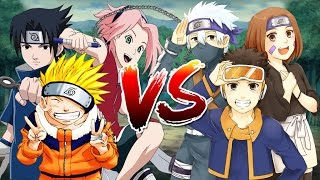Naruto, Sasuke & Sakura VS Kakasi, Obito & Rin - Naruto Song Đấu