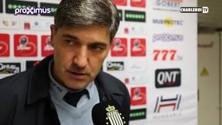 Réactions de Felice Mazzu après R.Charleroi.S.C - Anderlecht
