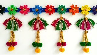 Hair Rubber Band and Hair Clip Toran | Home Decor Idea Out Of Waste