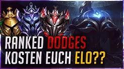 Ranked Dodges kosten euch Elo?? [League of Legends]
