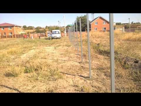 Cмотреть видео как сделать забор на участке своими руками