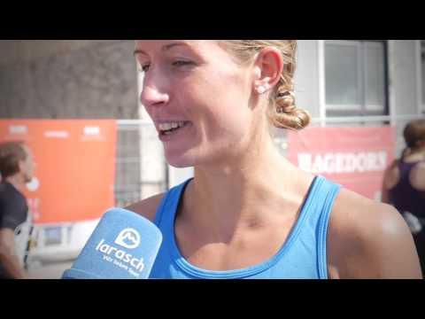 Annika Krull im Interview beim Hannovermarathon 2017