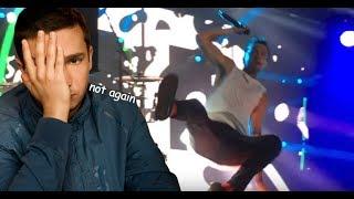 Tyler Joseph falling for 2 minutes